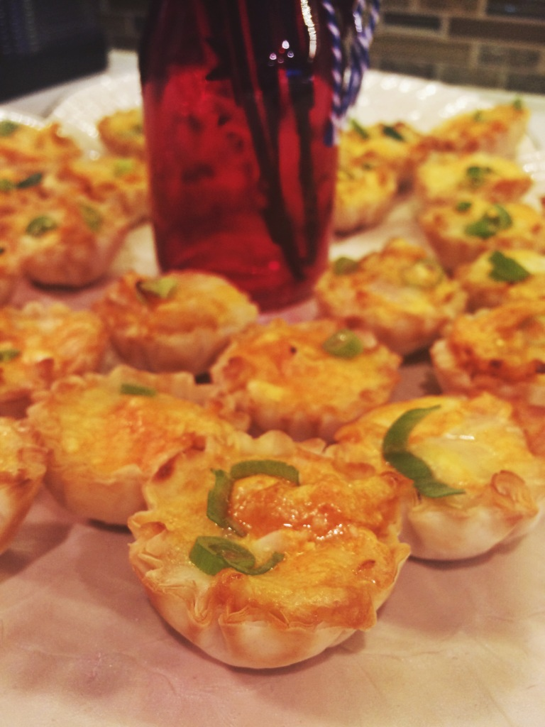 Buffalo Chicken Brie Bites