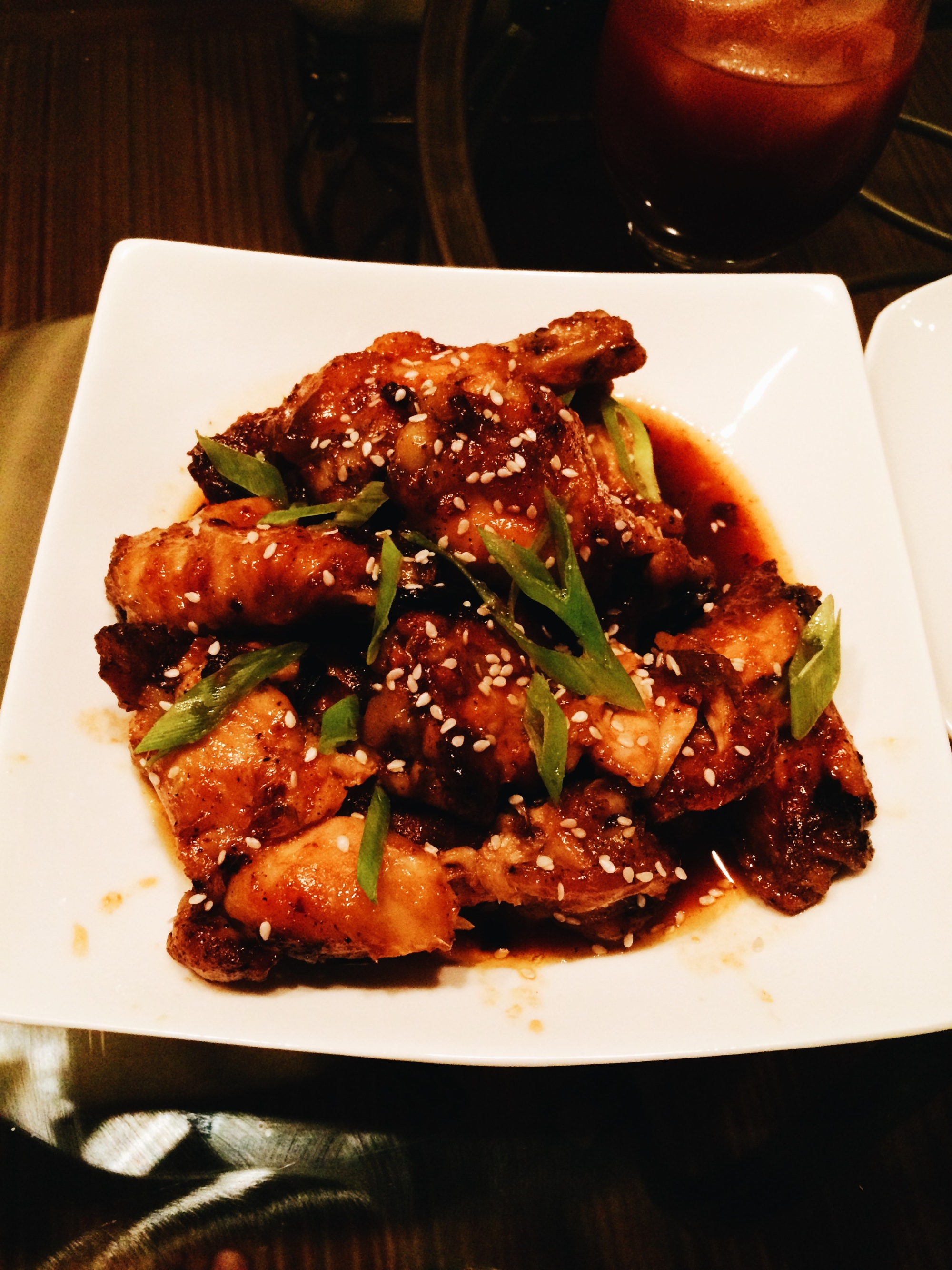 Spicy Asian Fusion Chicken Wings with honey, ginger, and garlic