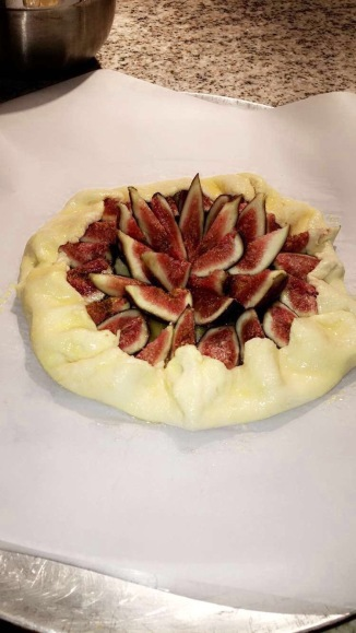 Fresh fig galette