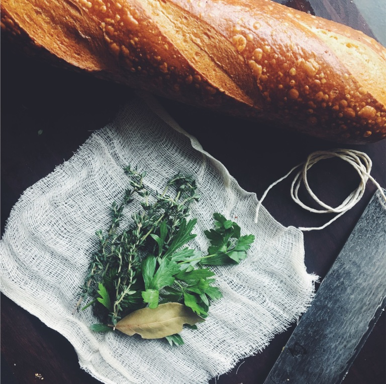 French Onion Soup | Fresh herbs and a good sourdough baguette