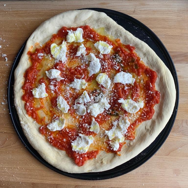 Homemade Margherita D.O.P. Pizza
