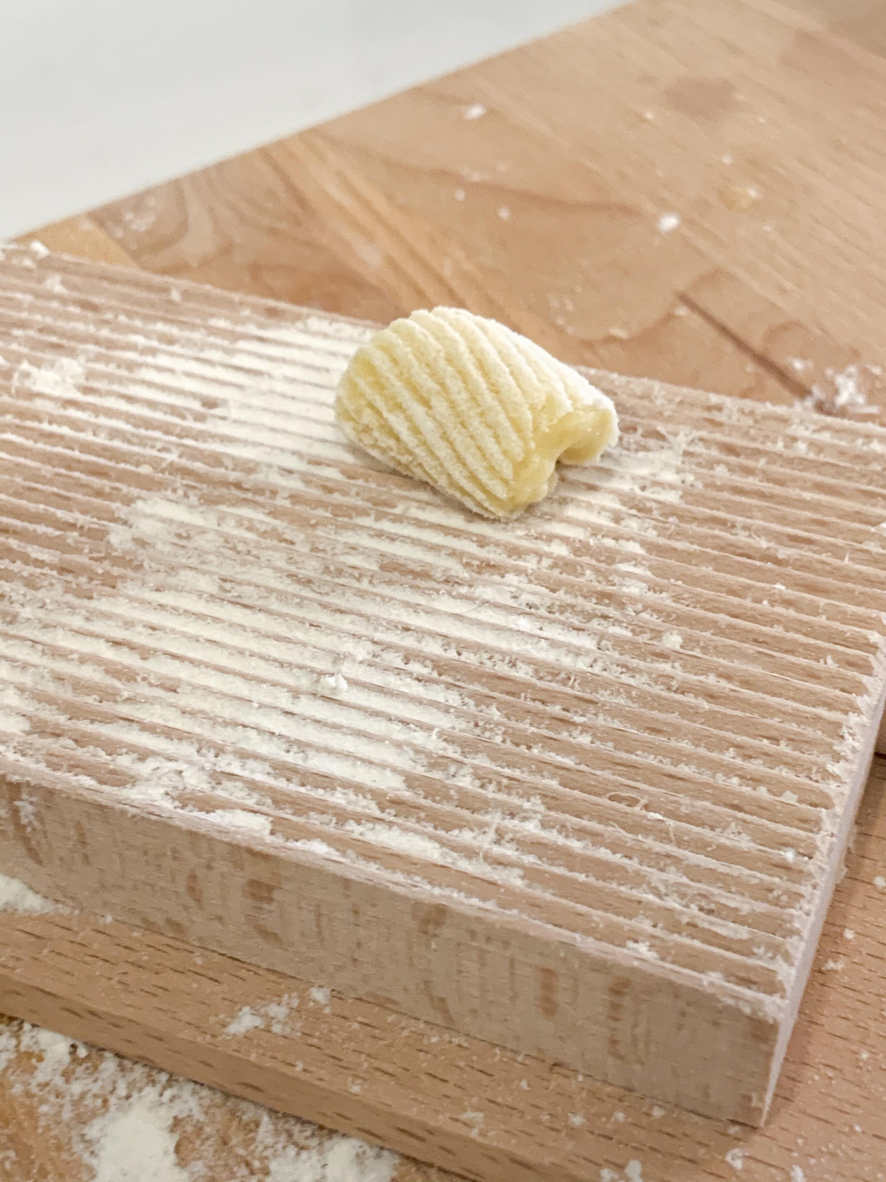 shape of homemade gnocchi