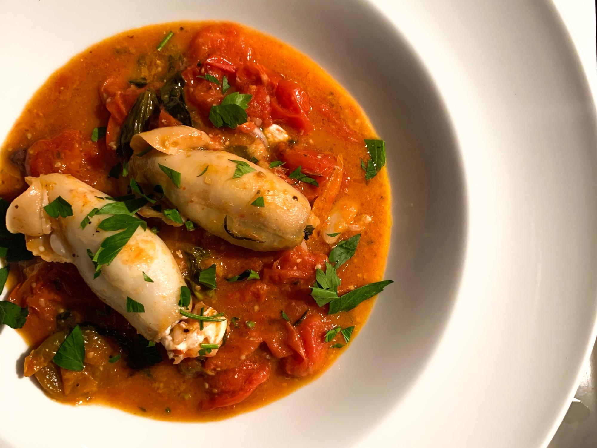 Sicilian Stuffed Calamari
