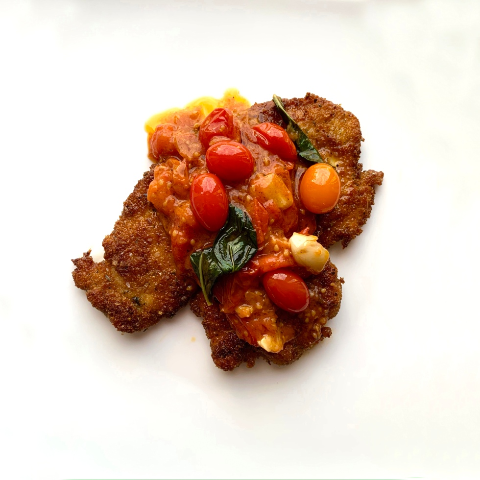 Italian Chicken Cutlets with Cherry Tomatoes